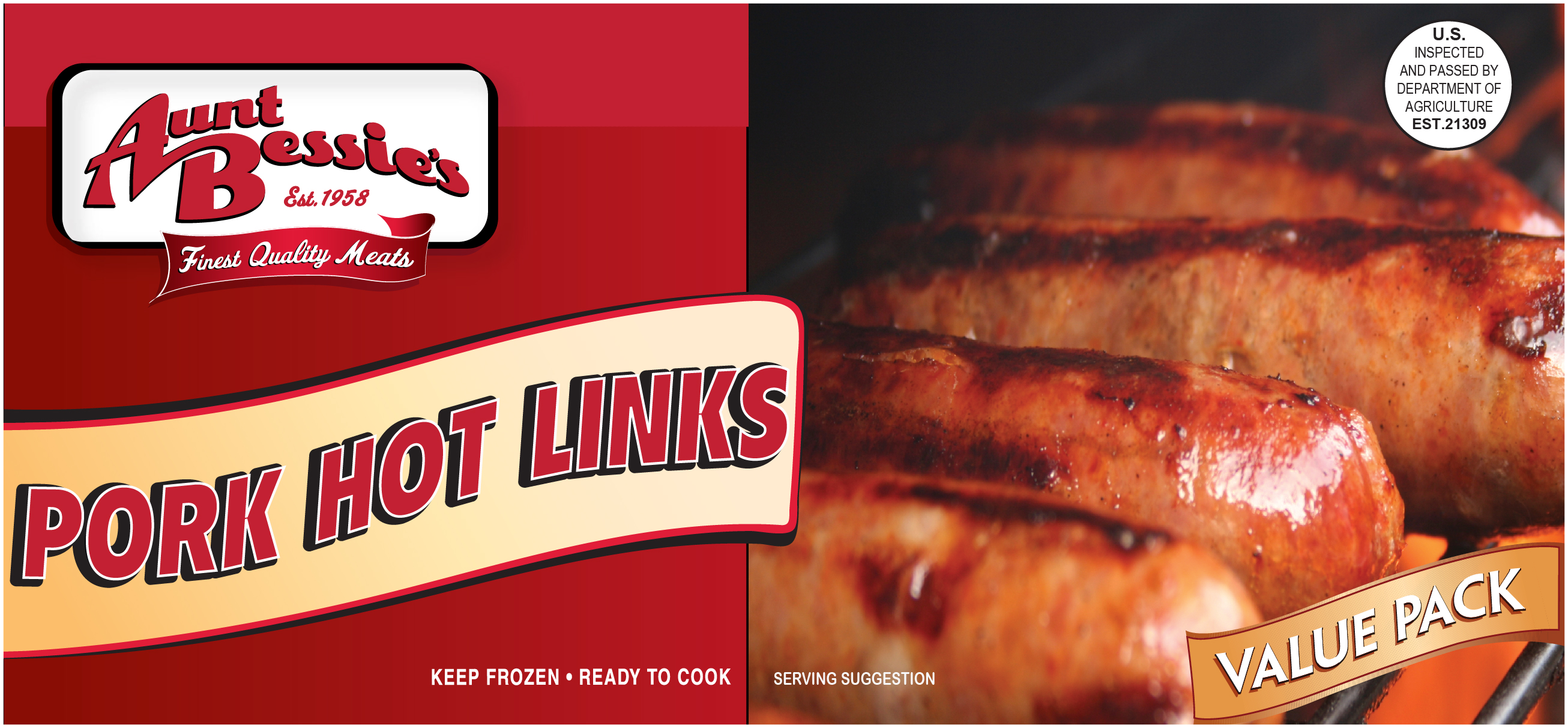 Aunt Bessie's Pork Hot Links